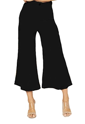 Flynn Skye Tanner Wide Leg Crop Pant in Black