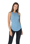 Maison T Kinga Rib Tank in Steel Blue