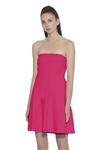 Susana Monaco Daniela Strapless Flare Dress in Punch Pink