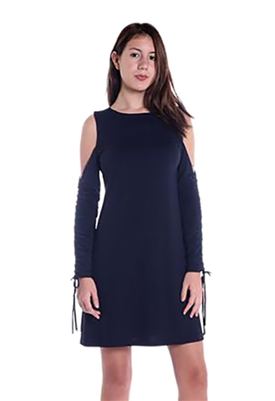 Susana Monaco Gabrielle Cold Shoulder Dress in Midnight