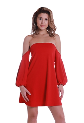 Susana Monaco Cyndi Dress in Perfect Red