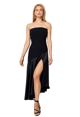 Bec & Bridge Natalia Strapless Dress in Black