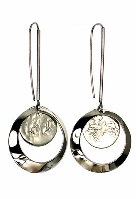 Sibilla G Dangling Full Moon Earrings