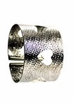 Sibilla G Heart Cuff in Stainless Steel