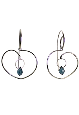 Sibilla G Sweet Valentine Briolette Blue Topaz Earrings