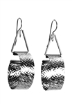 Sibilla G Mini Diamond Hoop Earrings Stainless Steel