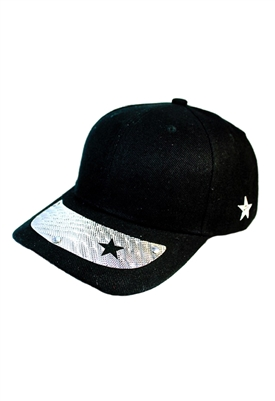 Sibilla G Starlight Baseball Cap in Black