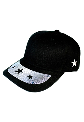 Sibilla G Starlight Baseball Cap in Black With 3 Star Cutout