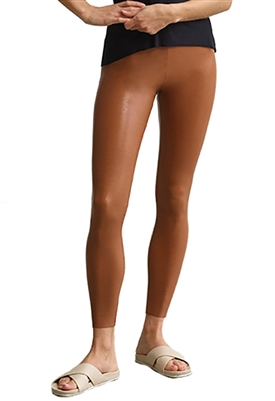 Commando Faux Leather Leggings with Perfect Control in Cocoa