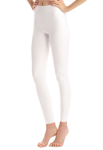 Commando Faux Leather Leggings with Perfect Control in White
