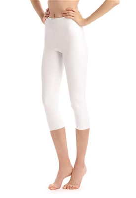 Commando Faux Leather Capri Legging in White