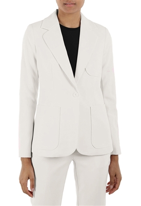 525 America Soft Tailored Blazer in Chalk