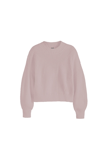 525 America Mia Crop Shaker Sweater in Quartz