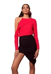 Stylestalker Darcy One Shoulder Top in Jester Red