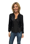 Drew Clothing Peppa Sequin Jacket in Black