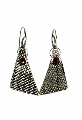 Sibilla G Diamond Cut Pyramid Dangling Earring