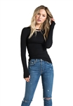 n:Philanthropy Harley Long Sleeve Top in Black Cat