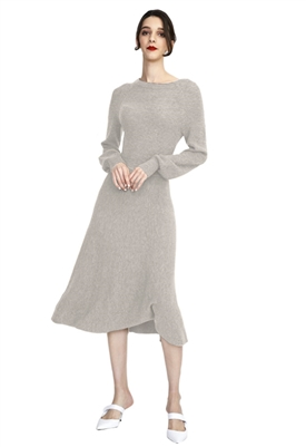 525 America Mock Neck Circle Skirt Sweater Dress