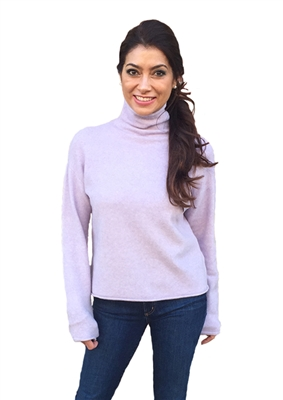 525 America Roll Neck Pullover Sweater in Wisteria