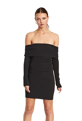 Bec & Bridge Amelie Off Shoulder Dress in Black
