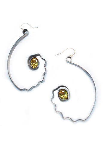 Sibilla G Citrine Impulse Earrings | ShopAmbience