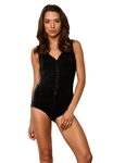 YFB Clothing Loop Bodysuit in Black