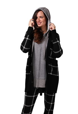 Central Park West Tatum Dickey Cardigan in Black