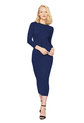 Clayton Kamil Dress in Navy