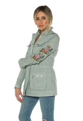 Rino & Pelle Coira 3/4 Jacket in Baby Blue
