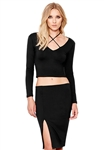 David Lerner Nolita Crop Top in Black