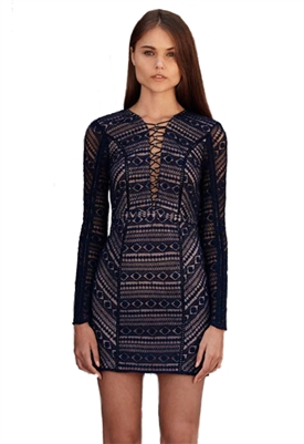 The Jetset Diaries Eden Mini Dress in Midnight