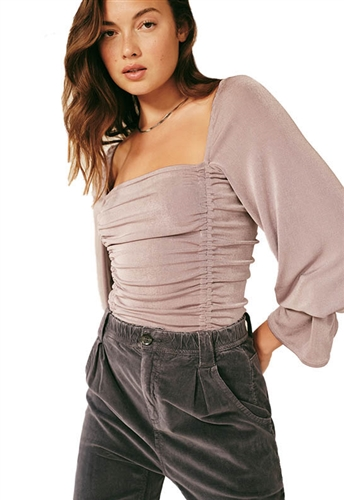 Free People Meant To Be Bodysuit in Silver Mauve