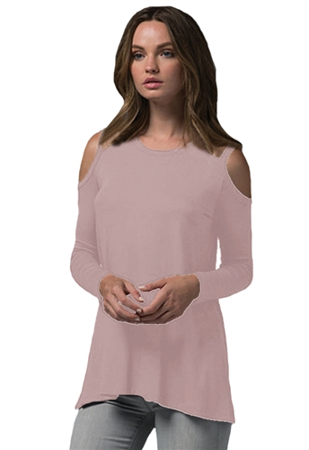 Sen Collection Saska Cut Out Top in Old Rose
