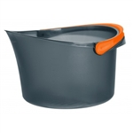 Casabella 2.5 Gallon Bucket - Graphite/Orange #36046_1