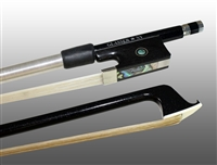 VIOLIN BOW CARBON GRAPHITE, FULLY-LINED EBONY FROG, NICKEL WIRE GRIP