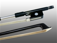 VIOLA BOW CARBON COMPOSITE, HALF-LINED EBONY FROG,  NICKEL WIRE GRIP