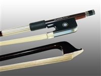 VIOLA BOW ADVANCED COMPOSITE, FULLY-LINED EBONY FROG, NICKEL WIRE GRIP