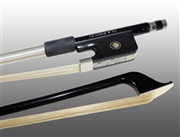 CELLO BOW CARBON GRAPHITE, FULLY-LINED EBONY FROG, NICKEL WIRE GRIP
