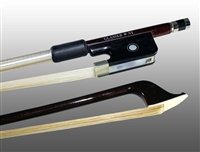 CELLO BOW ADVANCED COMPOSITE, FULLY-LINED EBONY FROG, NICKEL WIRE GRIP