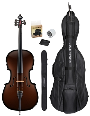 CARBON COMPOSITE ACOUSTIC CELLO 4/4 - 5 STRING -OUTFIT
