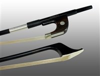 BASS BOW GERMAN CARBON COMPOSITE, HALF-LINED EBONY FROG,  NICKEL WIRE GRIP