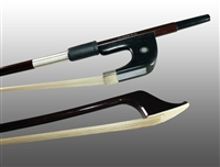 BASS BOW GERMAN ADVANCED COMPOSITE, FULLY-LINED EBONY FROG, NICKEL WIRE GRIP