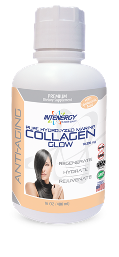 Intenergy Premium Dietary Supplements Hydrolyzed Marine Collagen Glow Liquid