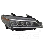 TYC Right Side LED Headlight For Acura TLX 2015-2017 Models