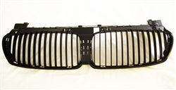 Matte Black Kidney Grill BMW E65 E66 7 Series Sedan 2002-2008