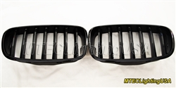 High Gloss Black Kidney Grill BMW E70 X5 Series 2007-2013