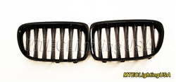 High Gloss Black Kidney Grill BMW E84 X1 Series 2009-2014