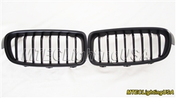 Matte Black Kidney Grill BMW F30 F31 3 Series Sedan Touring 2012-2015