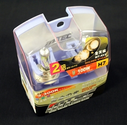 MTEC 3300K H7 55W Golden Yellow Bulbs