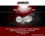 MTEC V4 (2021 Newest Model) BMW Angel Eye LED Bulbs E82 E87 1 Series 2004-2007